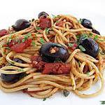 """recette Spaghetti à la """"Puttanesca"""""""