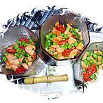 recette Salade de petits pois au saumon et au chorizo