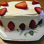 recette Gâteau mousse aux fraises