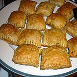 recette carré de pâte feuilletée aux crevettes