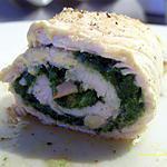 recette blancs de volaille farcis aux épinards