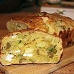 recette Cake salé courgette, olives et féta
