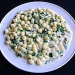 recette Gnocchi à la sauce au  Gorgonzola et roquette