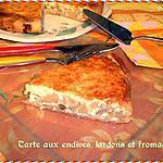 recette Tarte aux endives, lardons et fromage