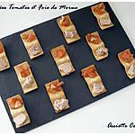 recette Bouchées apéritives tomates et foie de morue