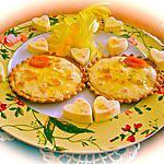 recette TARTELETTES ENSOLEILEES POUR L'ARRIVEE DU PRINTEMPS.