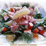 recette salade de saumon à l'ananas