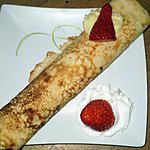 recette crèpes roulées à la crème vanille