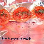recette Pavé de saumon en papillote