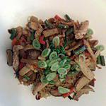 recette Vermicelles de soja aux légumes et viande de veau