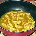 recette Emincés de poulet mijotés au curry