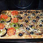 """recette """" 3/4  Pizzaladière.... et 1/4  Pizza aux légumes du soleil...."""""""