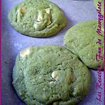 Cookies martiens à la pistache et au chocolat blanc