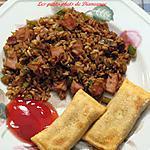 recette Riz chinois aux légumes et jambon