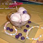 recette Glace à la violette ( sans sorbetière)