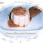 recette Panna cotta au miel et spéculoos