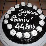 gâteau d'anniversaire de famille