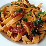 recette Tagliatelles aux tomates séchées maison