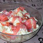 recette Salade de pommes de terre au saumon fumé