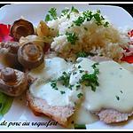 recette roti de porc au roquefort