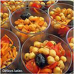 recette Salades de pois-chiches en verrines