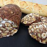 recette Saucisson au chocolat michalak