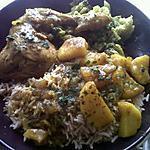 recette Poulet colombo, riz basmati complet et brocolis