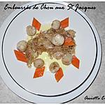 recette Embeurrée de chou aux st jacques