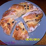 recette Brioche façon pains aux raisins