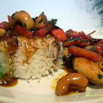 recette wok de poulet aux noix de cajou