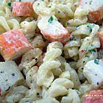 recette salade de fusilli au surimi
