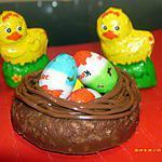 recette petits nids de pâques croustillants nutellatés