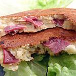 recette Galettes aux 2 fromages et magret de canard  séché