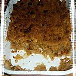 recette Crumble aux pommes et à la cannelle