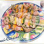 recette Brochettes de poulet mariné à ma façon