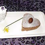 recette moelleux à la crème de marrons et poires  (mon dessert de paques)