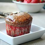 recette Muffins fraises marinées, citron, thym et miel de citronnier