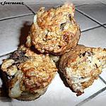 recette Muffins au Gorgonzola, aux poires & aux noix
