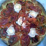 recette Tarte fine tomates, serrano et chèvre