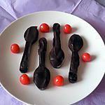 recette Petites cuillères chocolat/cerises