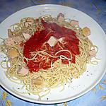 recette Pates foie gras/ sauce tomate
