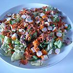 recette salade thon/surimi/carottes
