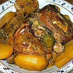 recette Guisado de pollo con papas y aceitunas...( Ragout de p.d.terre... et olives....)