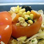 recette tomate farcie sur son tapis d'endives