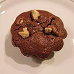 recette Gros muffins de chocolat au noix