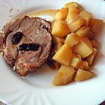 recette Rôti de porc farci aux pruneaux