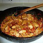 recette poulet au chorizo et poivron