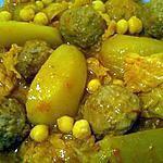recette Chou frisé avec boulettes de viande