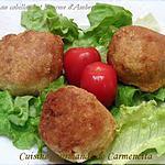 recette Arancini de cabillaud à la Fourme d'Ambert