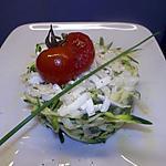 recette salade de courgettes au chevre